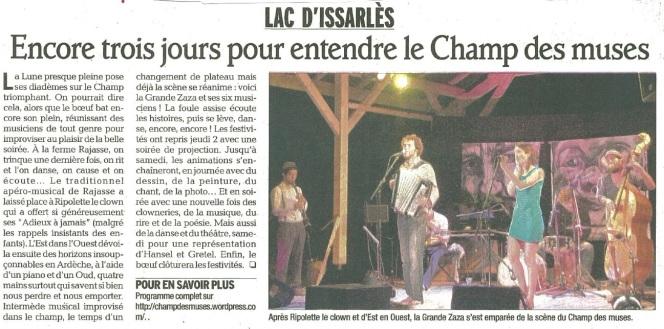 2012 Encore 3 jours pour entendre le Champ des Muses