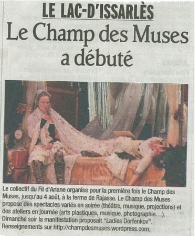 2012 Le Champ des Muses a débuté