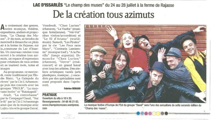 2013 De la création tous azimuts.